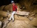 Resting inside Malham cave