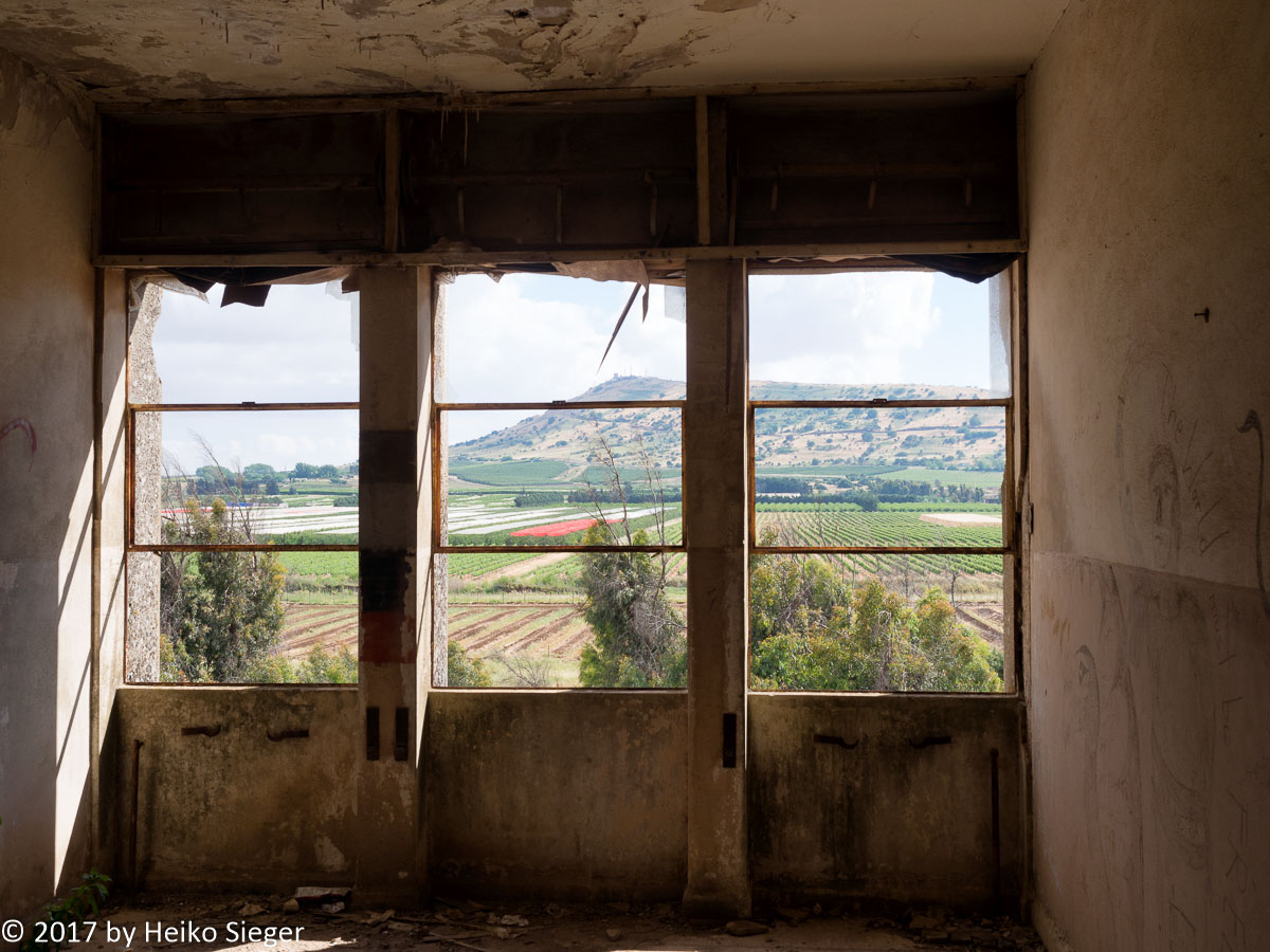 View from the Syrian headquarter