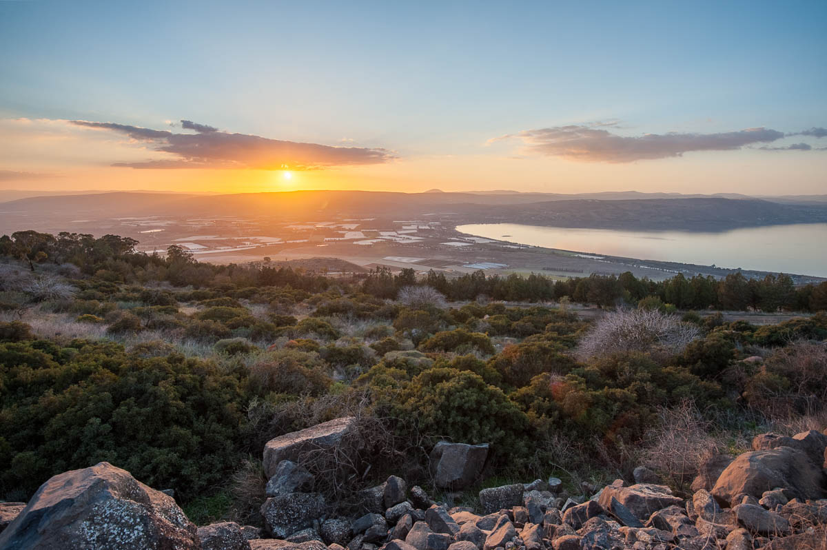 Sea of Galilee as seen from the Golan heights