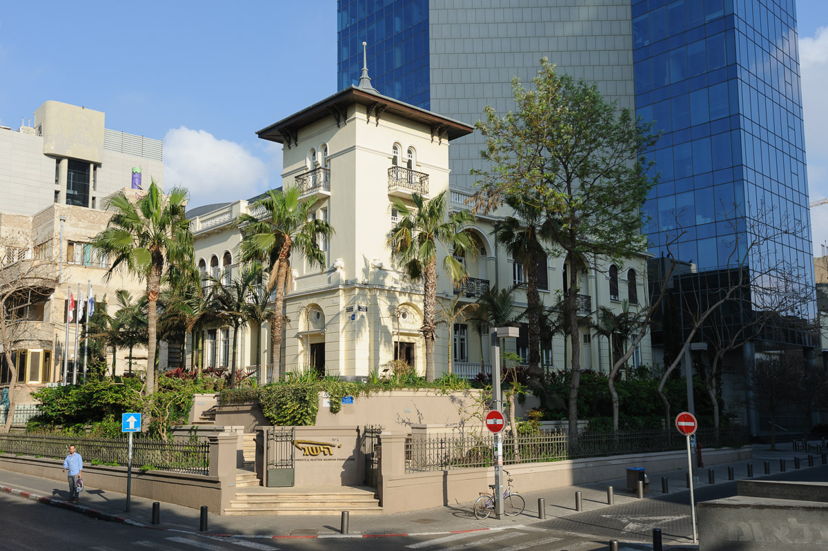 Levine house (Russian Embassy Bldg.), architect Yehuda Magidovitch