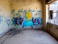 Graffiti at the former Syrian military headquarter